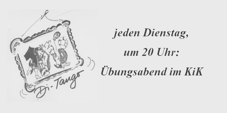 Tango Übungsabend<br/>Di 04.10.2016 – 19.30 Uhr
