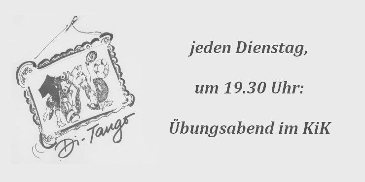 Tango Übungsabend<br/>Di. 25. Sept. 2018 – 19.30 Uhr
